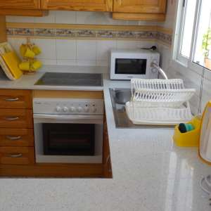 Kitchen With Newly Fitted Granite Worktops